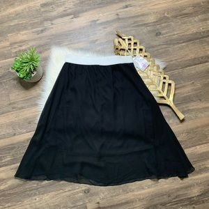 LuLaRoe Lola Skirt Solid Black